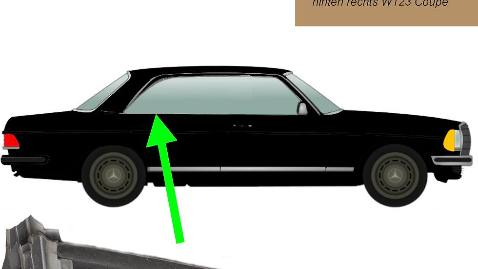 Abdichtschiene Seitenfenster hinten rechts für Mercedes W123 Coupé