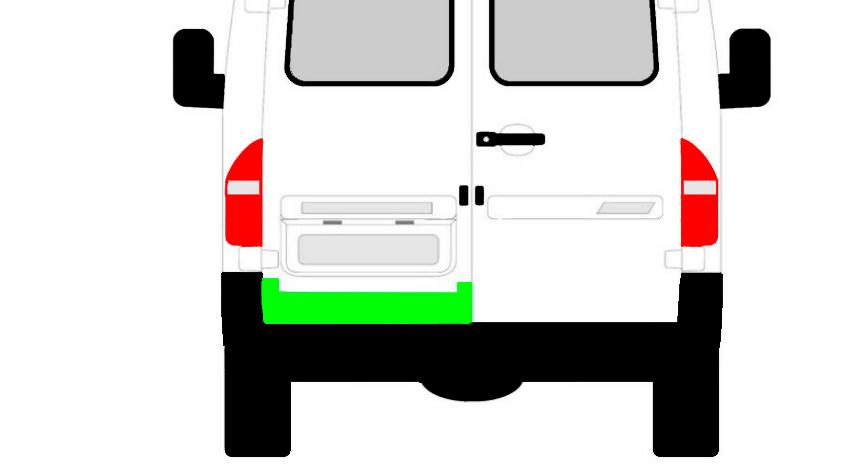 Hinten Tür Innen Reparaturblech / Links für Mercedes Sprinter VW LT 1995-2006