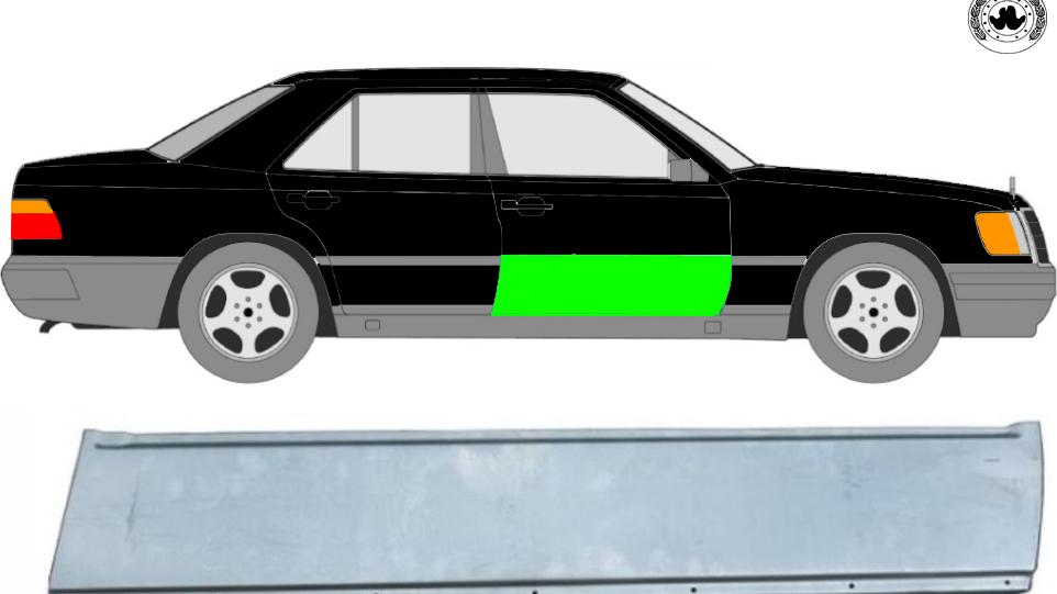 Vorne Tür Reparaturblech / rechts für Mercedes W124 1984-1996