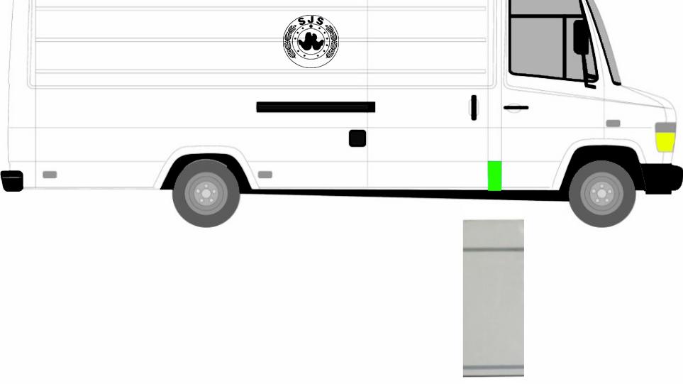 1 x Reparaturblech Seitenwand hinten Rechts = Links für Mercedes Vario 96-13