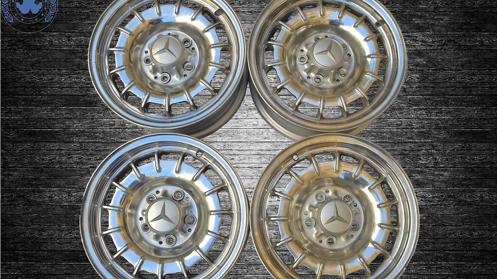 Baroque wheels original Mercedes W123 W126 W116 W107 W108 W 109 pagoda u.s.w 6,5J