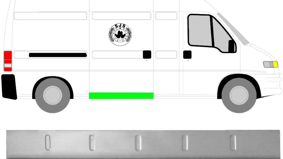 1x Innen Schweller Reparaturblech / Rechts = Links für Fiat Ducato P Boxer 94-06