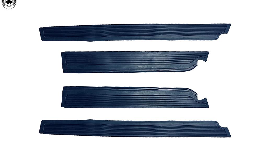 Gummi Einstiegsleisten Schweller Beläge für Mercedes W109 blau