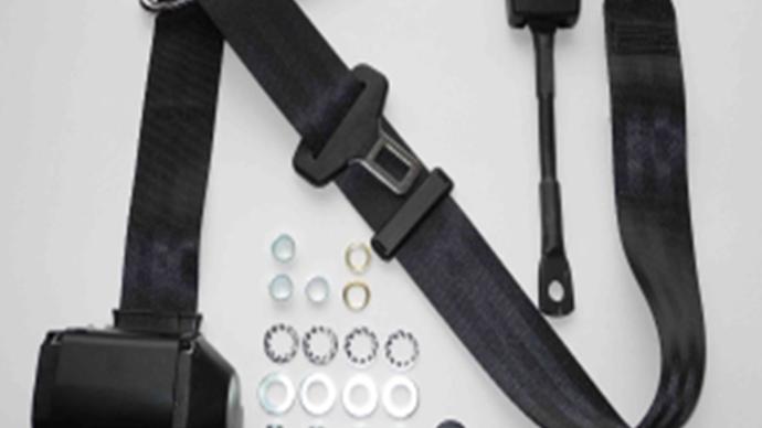 Dreipunkt Automatik Sicherheitsgurt,schwarz 22 cm passend für W113 Pagode