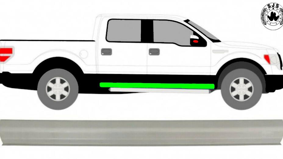 1x Schweller reparaturblech / Rechts = Links für Ford F-150 2008-2014