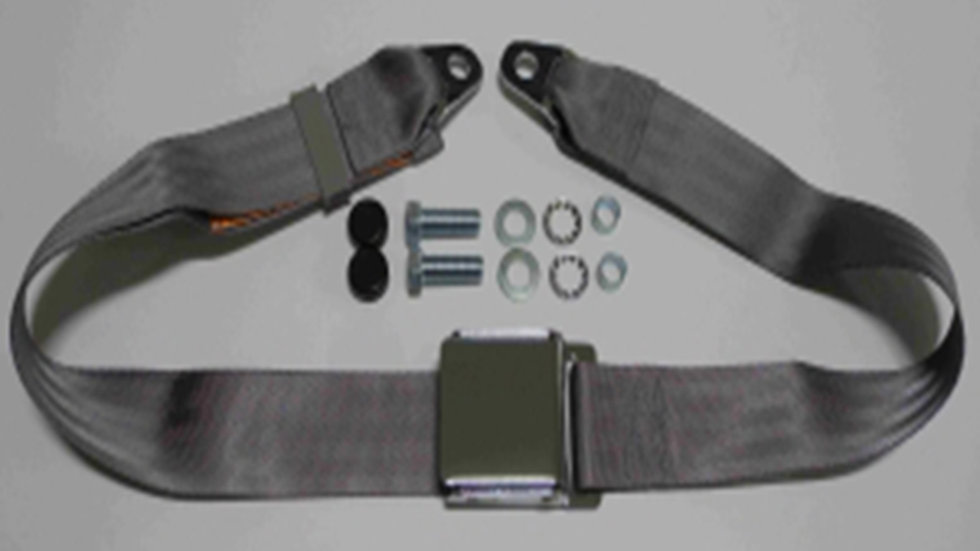 Chrom-Retro statischer Beckengurt mit grauem Gurtband passend für W113 Pagode