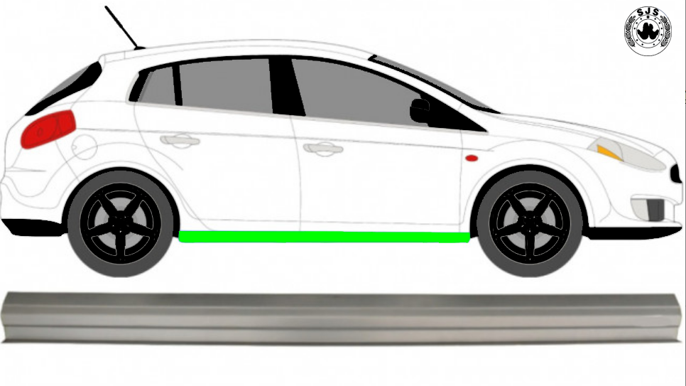 Schweller Reparaturblech / Rechts = Links / Symmetrisch für Fiat Bravo 2007-2014