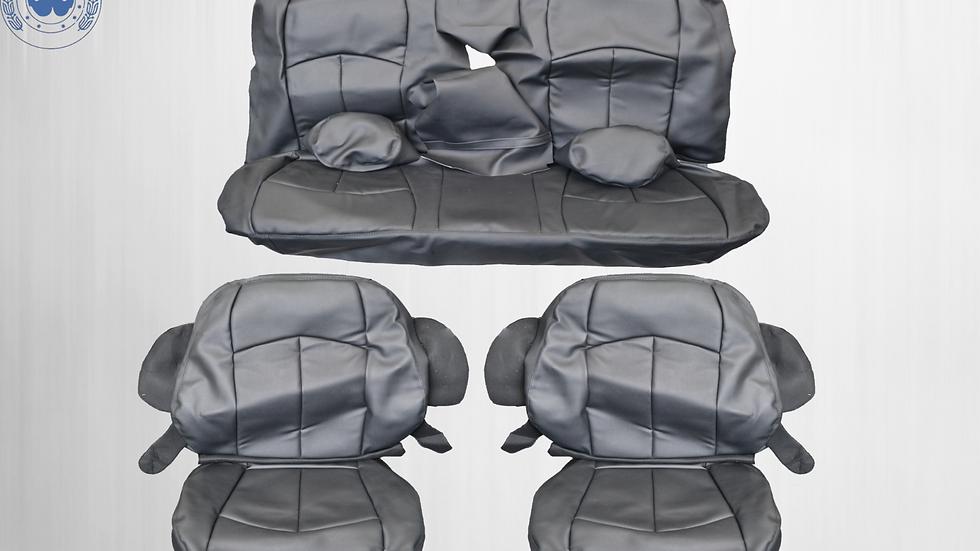 Sitzbezüge für den Mercedes Benz E-Klasse W211 schwarz, Nähte schwarz