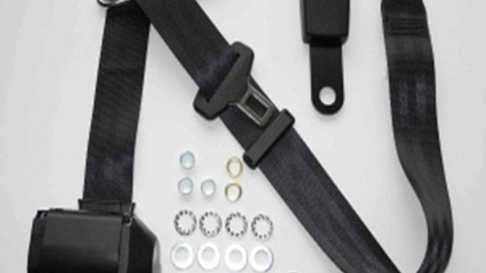 Dreipunkt Automatik Sicherheitsgurt,schwarz,für SL R/107