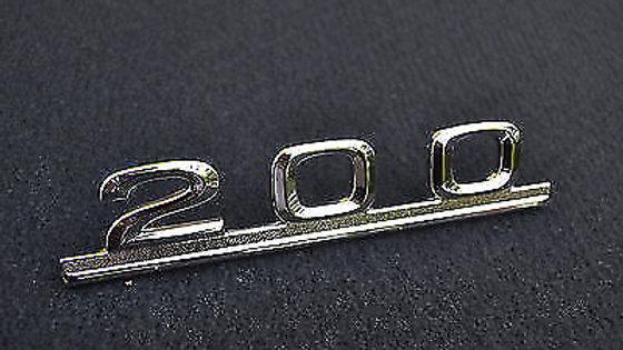 200 Schriftzug für Mercedes Benz Typenschild Emblem 200er NEU Massiv steckbar
