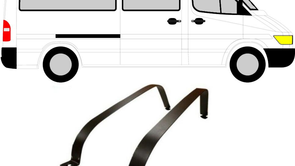 2x Tankbänder Tankband Kraftstofftankbänder für Mercedes Sprinter VW LT 95-06