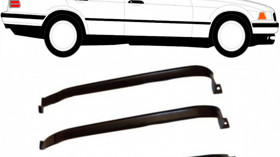 3x Tankband Tankbänder Tank Kraftstofftankbänder für BMW E36 96-99 E36 96-99 318