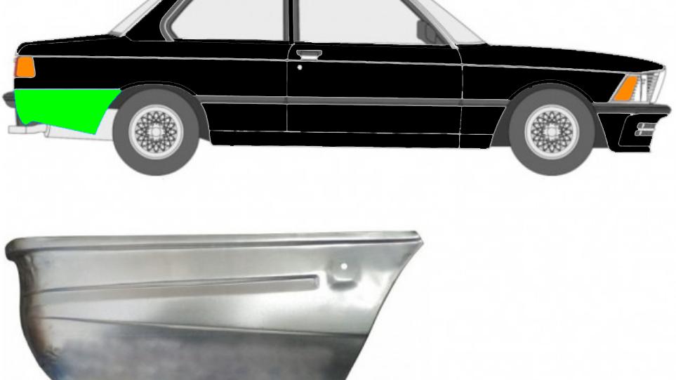 Hinten Reparaturblech / Rechts für BMW 3 3er E21 1975-1984 2 Tür