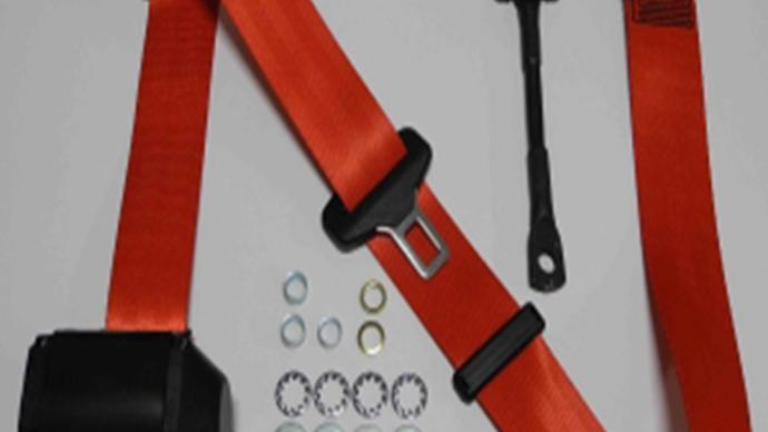 Dreipunkt Automatik Sicherheitsgurt,rot,22cm Gurtpeitsche,für 190 SL
