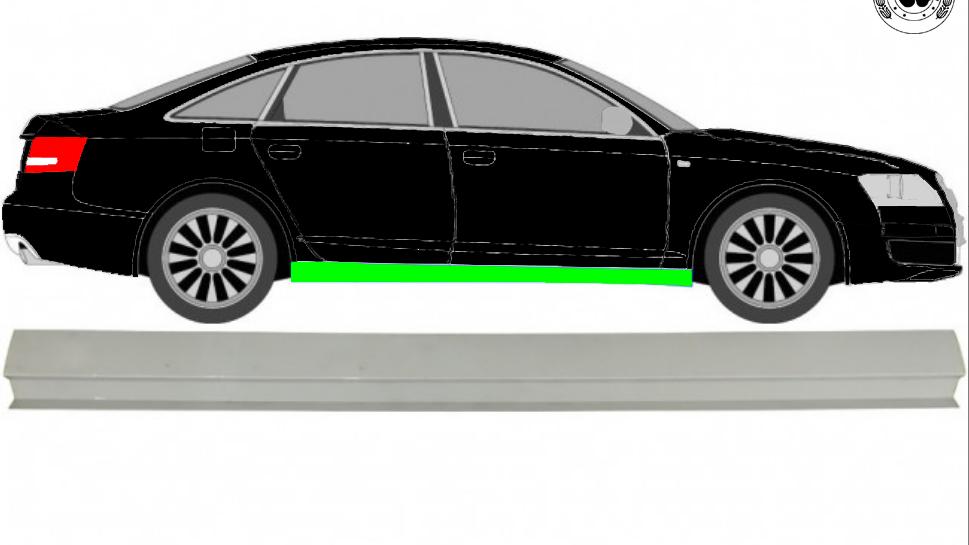 Schweller Reparaturblech / Rechts = Links / Symmetrisch für Audi A6 C6 2004-2010