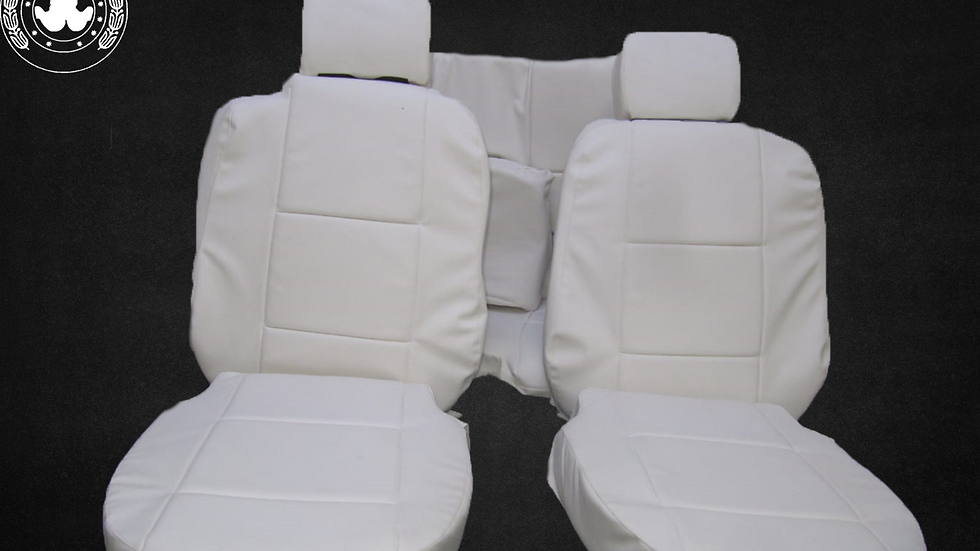 Sitzbezüge Bezüge passend für BMW 3er-Reihe E36 Cabrio , weiß hellbeige