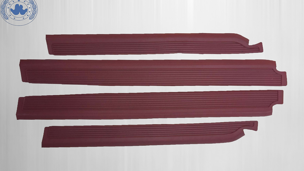 Gummi Einstiegsleisten Schweller Beläge für Mercedes W108,burgundy dunkelrot SET