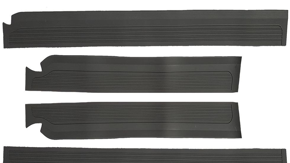 Gummi Einstiegsleisten Schweller Beläge für Mercedes W115/W114 /8 Grau