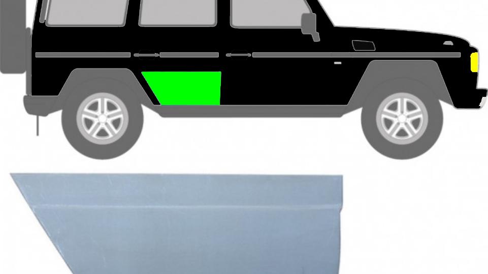 Hintere Tür Reparaturblech / Rechts für Mercedes G-Klasse W460 W461 W463