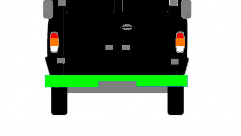 Hinteres Reperaturblech (unter der Tür) für Mercedes T1 207-410 1977-1996