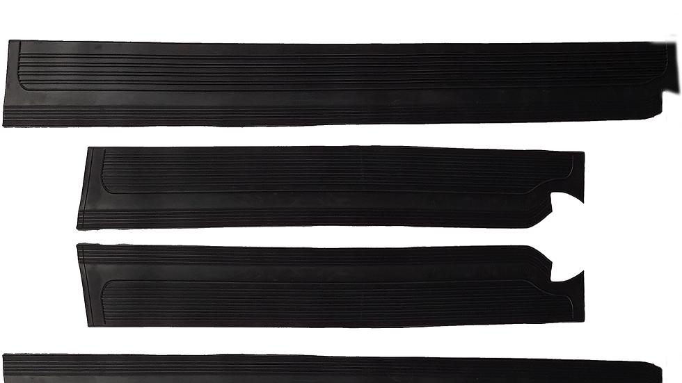 Gummi Einstiegsleisten Schweller Beläge für Mercedes W115/ W114 /8 schwarz