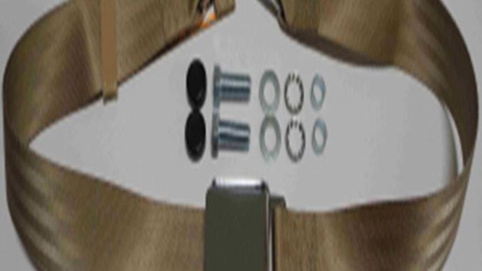 Chrom-Retro statischer Beckengurt,beige passend für W110,W111,W112 Coupe