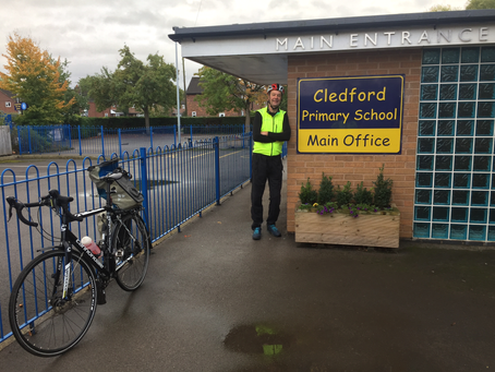 Year 6 Transition Ride from Cledford Primary School to Middlewich High School