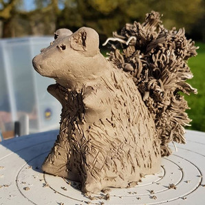Had a little practise making a squirrel