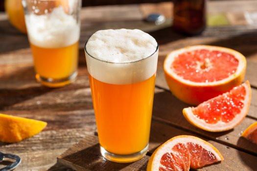 Fruit Beer: na foto vemos uma cerveja elaborada com grapefruit (toranja)