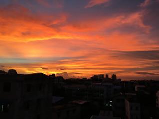 ミャンマーの夕日