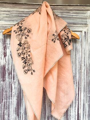 Floral scribble scarves