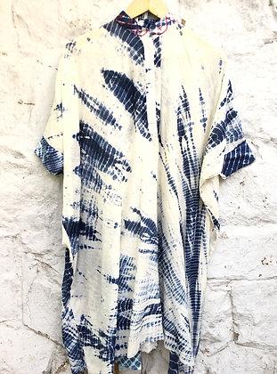 Thread detailed shibori kaftan set