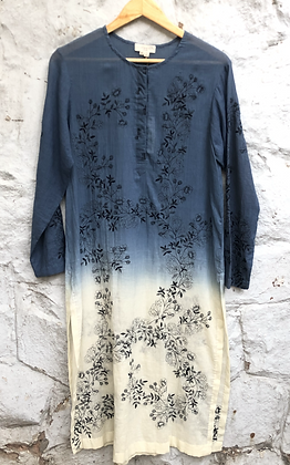 Shaded Floral scribble Kurta
