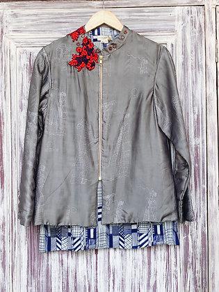 Printed zipper jacket