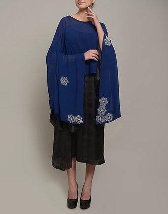 Moti embellished draped set