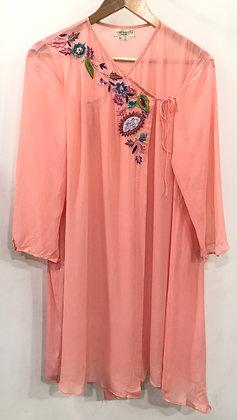 Floral overlap shirt