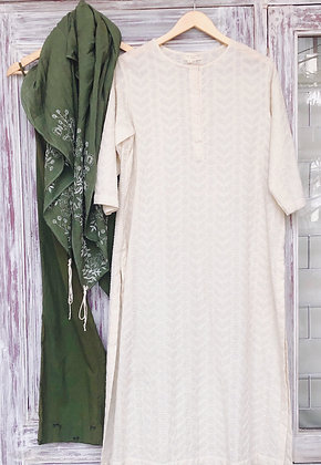 Textured kurta set