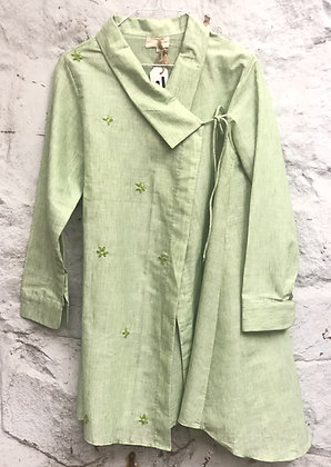 Resham motif overlap shirt