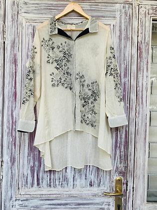 Floral scribble shirt