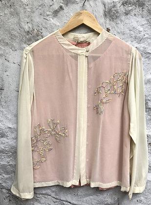 Embroidered overlayer shirt
