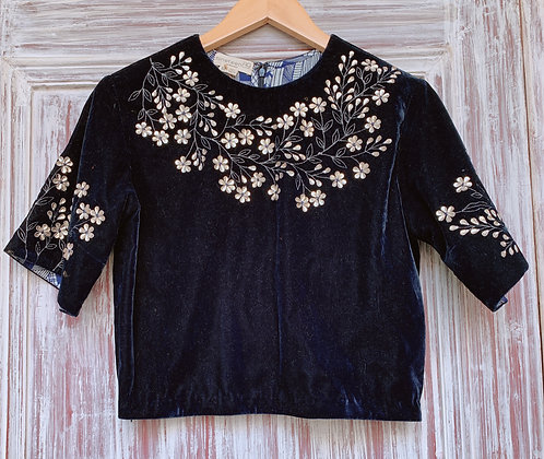 Leather Applique Blouse