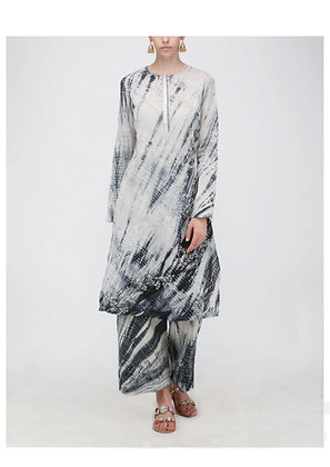 Heather shibori kurta set