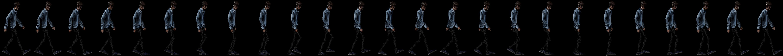 Protagonist walk cycle
