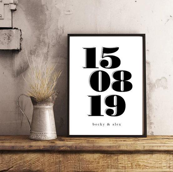 Personalised Vintage Date Print
