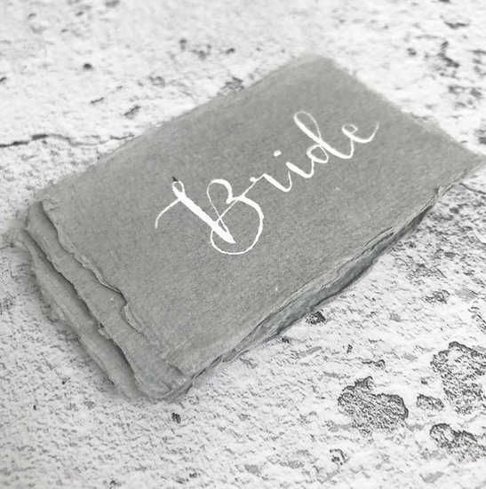 Wedding Place Cards on Handmade Paper