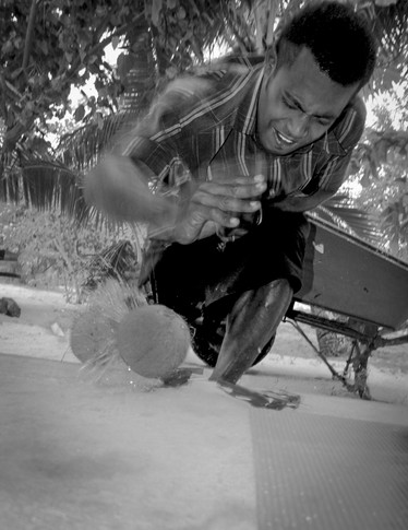 Fijian Coconut smasher