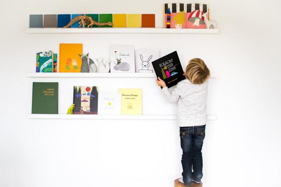 Little Boy Picks Out a Book