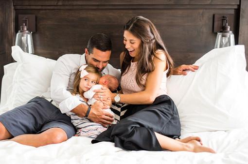 Family Admires Newborn
