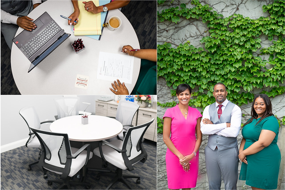 Team of business professionals working at an office