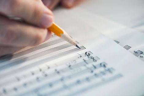 skládání hudby